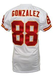 2002 Tony Gonzalez Kansas City Chiefs Game Worn Jersey Grey Flannel LOA