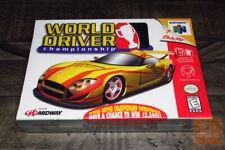 World Driver: Championship (Nintendo 64, N64 1999) FACTORY SEALED! - RARE! - EX!