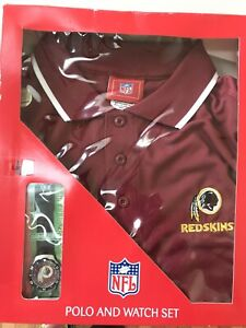 Washington Redskins NFL Men's Large Polo & Coach Watch New 2005-2008 NOS.