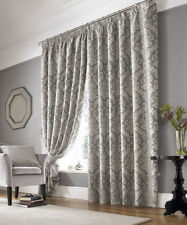 Chenille Floral Traditional Curtains