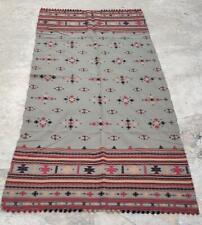 New ListingOld Indian Embroidery Kuchi Woolen Vintage Rabari Tribal Ethnic Wrap Stole Shawl