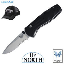Benchmade 585S Mini Barrage Serrated Assist Stainless Knife w/Axis Lock FREE HAT