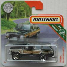 Matchbox 1989 Jeep Grand Wagoneer schwarzmetallic/Woodie Neu/OVP SUV Car MBX ´89