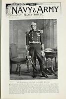 1897 Estampado Parte Trasera Admiral Claude Edward Hebilla