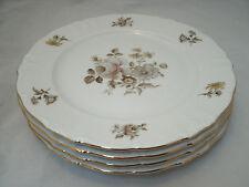 "Winterling Bavaria EMPRESS Gold Maria Theresia Set of 4-10 1/4"" Dinner Plates EC"