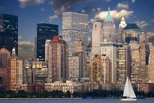 NEW YORK CITY SKYLINE LANDSCAPE POSTER PRINT STYLE A 36x54 BIG 9 MIL PAPER