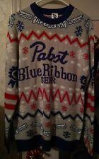 Pabst Blue Ribbon Holiday Sweater New Pbr (Rare) 2017 Size Medium