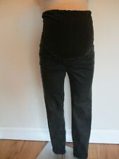 NEW LOOK MATERNITY BLACK OVER BUMP EMILEE RIPPED JEANS SIZE 10