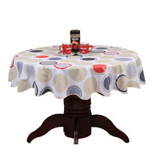 Round Table Cloth PVC Plastic Table Cover tablecloth Waterproof 152cm #1 C5H6