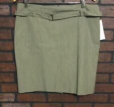 Kenneth Cole Reaction Pure Belted Knee Length Back Slit Skirt Women's Size 12