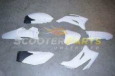 White Plastic Fairing Body Kit Motro Parts For 110cc Dirt Pit Bike Yamaha TTR110
