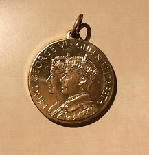 Coronation Medal 1937 King George VI & Queen Elizabeth Rowntree's Cocoa Medal
