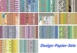 Design Papier Motivpapier Bastelpapier Sets -( € 0,138/Blatt ) -basteljulchen-de