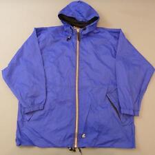 K-WAY 1990s Vintage Windbreaker Hooded Rain Jacket Festival Cagoule XL #D3100