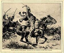 Angriff ungarischer Honved-Husaren (Vignette) c.1916