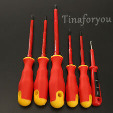 6X Electricians Screwdriver Set Tool Electrical Fully Insulated Carbon Steel