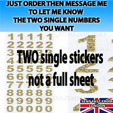 LETTERS NUMBERS STICKERS Silver Rose Gold self Adhesive Glitter Alphabet Craft✔