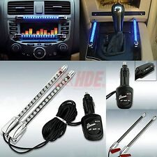 2x Neon Blue 15LED Sound Activated Interior Car Dash Music Rhythm Light Lamp 12V