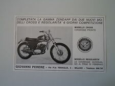 advertising Pubblicità 1971 MOTO ZUNDAPP MC 125 CROSS