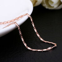 Wholesale 18K Rose Gold GP 1.5mm Fashion Chain Necklace Stunning 18''