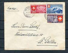 Expressbrief Schweiz Mi.-Nr. 335-337 Zürich-St. Gallen - b5246