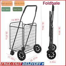 Shopping Cart Large-Capacity Folding Grocery Supermarket Black