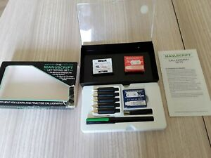The Manuscript Lettering Set Calligraphy Fountain Pen Ink 6 Nibs cartridges