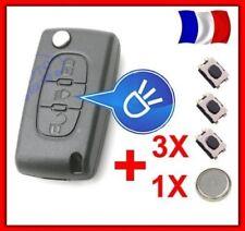 Carcasa Llave Inteligente Remota para Citroen C4 Picasso Botón Faro Ce0536+