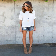New Fashion Women's Summer Loose Top Short Sleeve Blouse Casual Tops T-Shirt