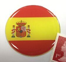 Spanish Flag Sticker Super Shiny Domed Finish 50mm Diameter - Spain