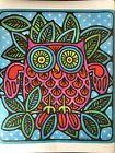 Vintage 1960's 70's John Lichtenwalner Night Owl Cute Design Poster