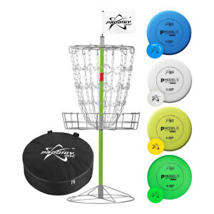 Prodigy Disc Golf Basket Mobile Target Set With Case and 4 Putters