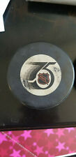 1992-93 INGLASCO IN-GLAS-CO LOS ANGELES KINGS 75TH ANNIVERSARY GAME USED PUCK