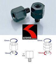2 Raccordi adattatori specchietti moto CAFE' RACER fil.dx/sx M10 Mirror Adapters
