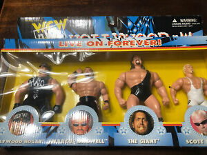 """1998 WCW Hollywood NWO MIB 5"""" Action Figure Pack OSFT Super Rare 4 Pack W16"""