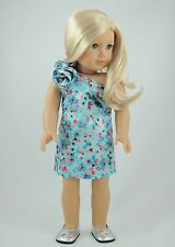 4th of July Print Dress  American Made Doll clothes for 18 inch Girl Dolls/ Gotz