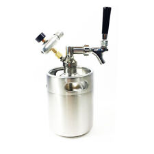 2L Mini Growler Spears Beer Keg With Tap Faucet With CO2 Injector Premium