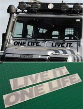 Land Rover Defender 90 110 One Life Live It decals stickers graphics custom vent