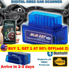 Car Bluetooth OBD2 OBDII Scanner Code Reader Automotive Diagnostic Tool ELM 327
