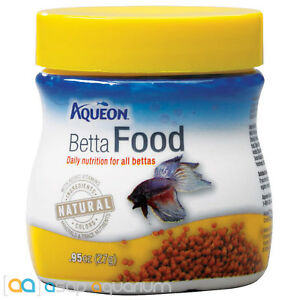 Aqueon Betta Fish Food .95oz Jar Fast Free USA Shipping