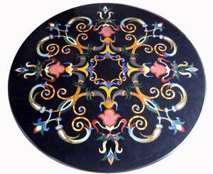 "30"" Marble coffee Table Top Handmade marquetry handmade Pietra dura Inlay"