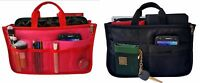 High Quality Handbag Organizer Purse Bag Liner Insert Divider Black/Pink/Red XL