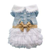 Fairy Denim Pet Dog Dress for Dog Clothes Charming Cozy Doggie Apparel Pet Dress