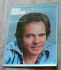 Merle Haggard I'm Always on a Mountain When I Fall 1978 MCA LP PROMO Poster GVG.