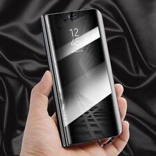Für Xiaomi Redmi 5 Plus Clear View Smart Cover Schwarz Tasche Wake Case UP Etui