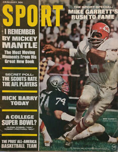Sport Jan 1968 Vtg Magazine Mickey Mantle - Rick Barry - Mike Garrett NoML GD