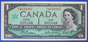 Canada 1967 - $ 1 - BC-45b  - Beattie-Raminsky - Prefix N/O