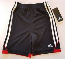 Adidas Boy's Athletic climalite Shorts black/red▪Childrens Size 5▪FREE Shipping!