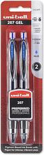 Uni Ball 207 Retractable Gel Pens Medium Point 07mm Blue 2 Count