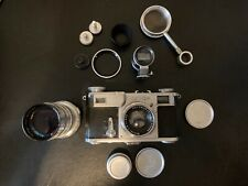 Contax Zeiss Ikon Film Camera with Lenses & Accessories, Made in Germany, As Is